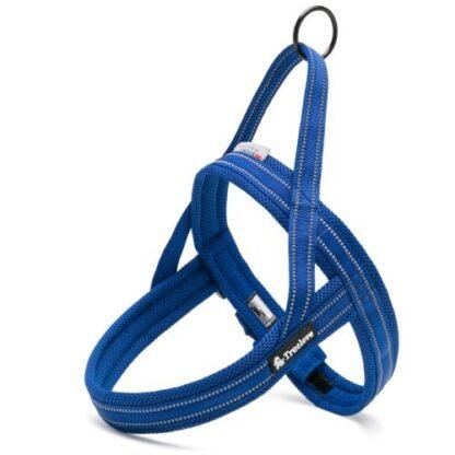 Шлейка для собак светоотражающая ярко синяя