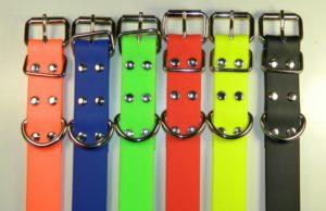 Ошейник для собак из биотана яркие цвета клепаная пряжка