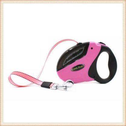 Рулетка для собак 5м 50 кг розовая