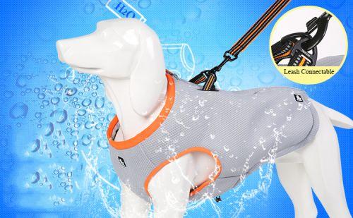 Охлаждающая попона для собак крепление поводка