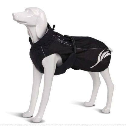 Водонепроницаемый жилет для собак черный светоотражающий