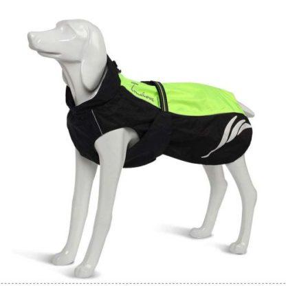Водонепроницаемый жилет для собак зеленый светоотражающий