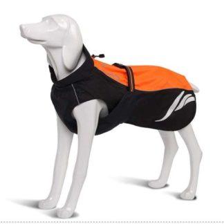 Водонепроницаемый жилет для собак оранжевый светоотражающий