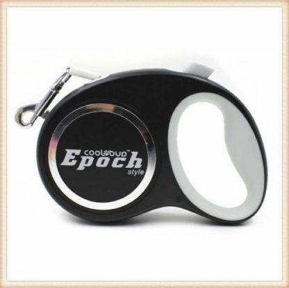 Рулетка для собак Epoch 4.2 метра, шнур, до 20 кг черная