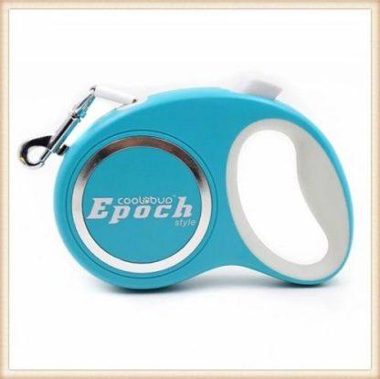 Рулетка для собак Epoch 4.2 метра, шнур, до 20 кг голубая