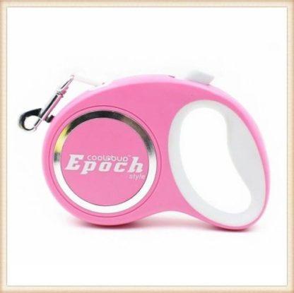 Рулетка для собак Epoch 4.2 метра, шнур, до 20 кг розовая