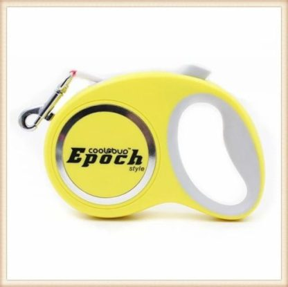 Рулетка для собак Epoch 4.2 метра, шнур, до 20 кг желтая