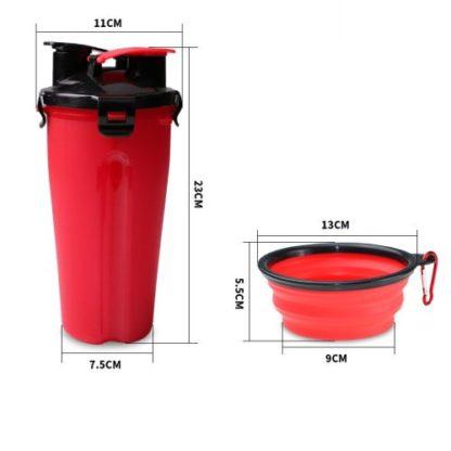 Походная бутылка для корма и воды для собаки размеры