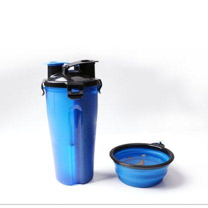 Походная бутылка для корма и воды для собаки комплект