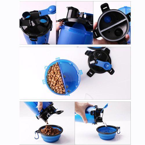 Походная бутылка для корма и воды для собаки способы применения