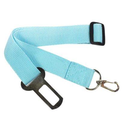 Поводок безопасности для собак в машину голубой