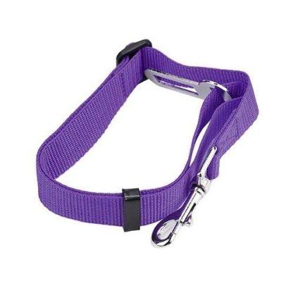 Поводок безопасности для собак в машину фиолетовый