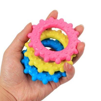 Игрушка для собак кольцо массажер 7,6см разные цвета