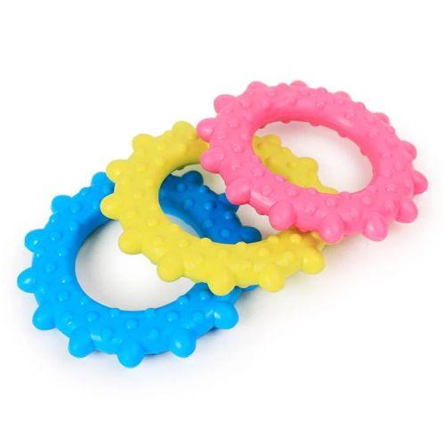 Игрушка для собак кольцо массажер 7,6см синяя
