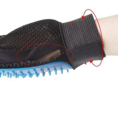 Силиконовая перчатка для мойки собак размеры крепление