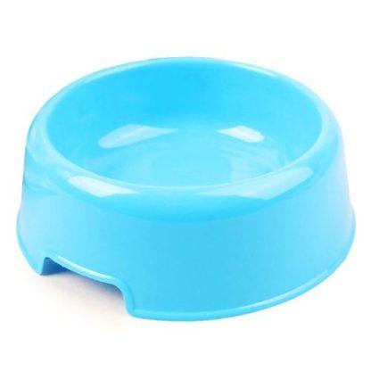 Миска для маленьких собак пластиковая голубая