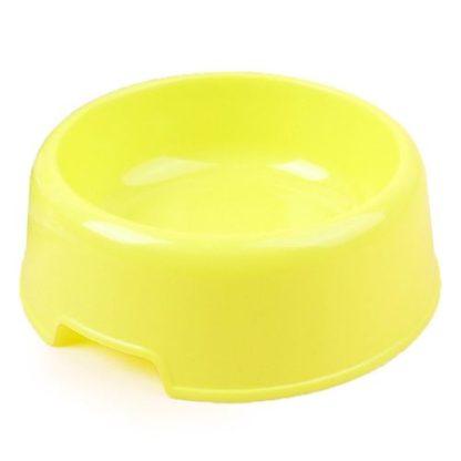 Миска для маленьких собак пластиковая желтая