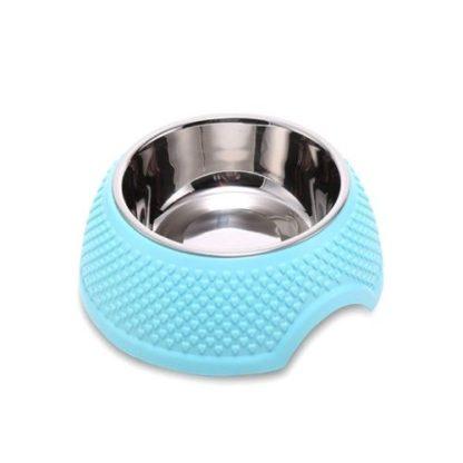 Миска для собаки пластиковая с металлической вставкой
