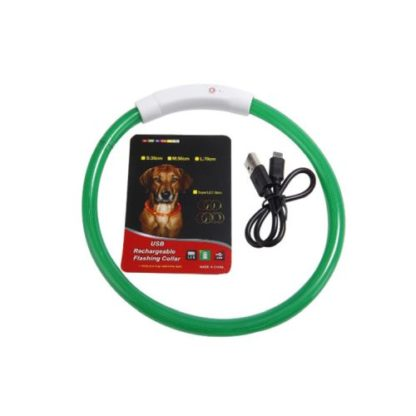 Светящийся силиконовый ошейник для собак. Разные цвета