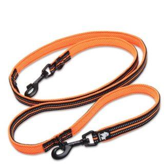 Поводок многофункциональный Truelove 7 в 1 оранжевый