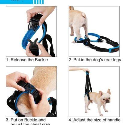 Ходунки поддержка задних лап для собак установка шаг 3