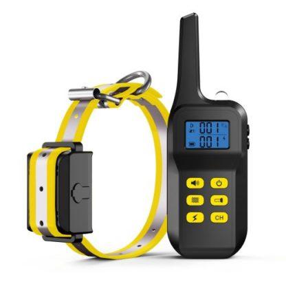 Ошейник для дрессировки собак электронный с антилаем T720 желтый