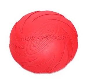 Летающая тарелка для собак Dog-soar красная