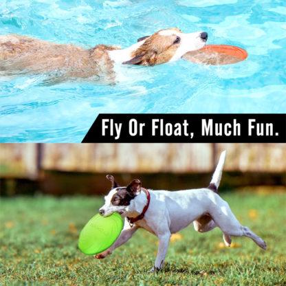 Летающая тарелка для собак Dog-soar плавает и летает