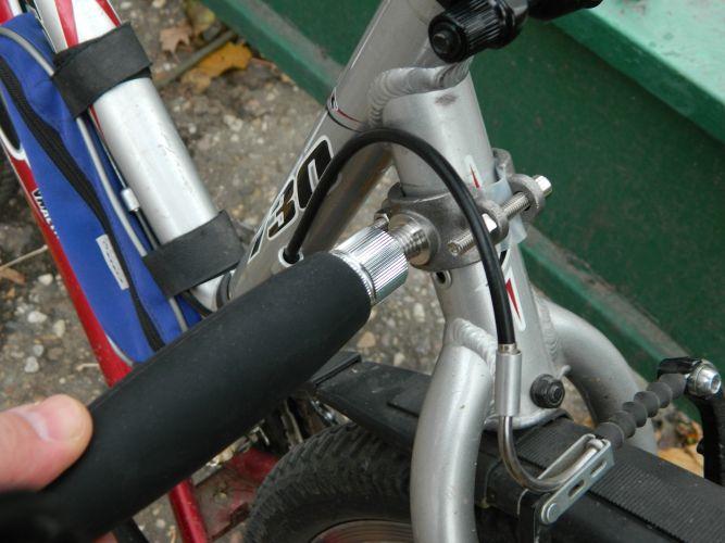 Велоспрингер способ крепления штанги