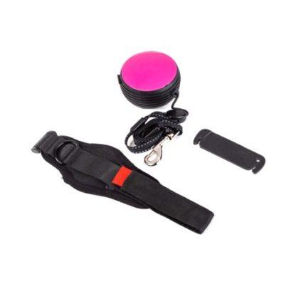 Рулетка для собак на запястье розовая