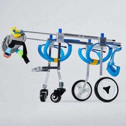 Инвалидная коляска для собак на 4-х колесах
