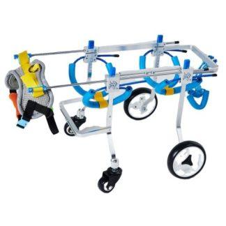 Инвалидная коляска для собак на 4-х колесах регулируемая