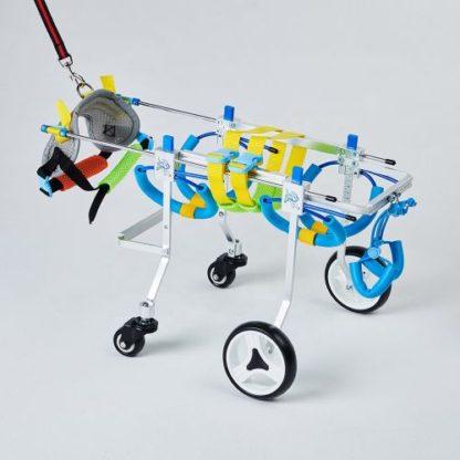 Инвалидная коляска для собак на 4-х колесах передняя часть в сборе
