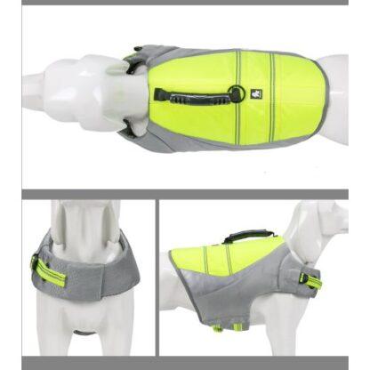 спасательный жилет для собак зеленый полный вид