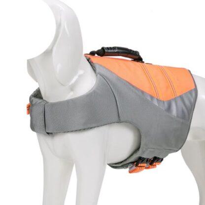 спасательный жилет для собак оранжевый полный